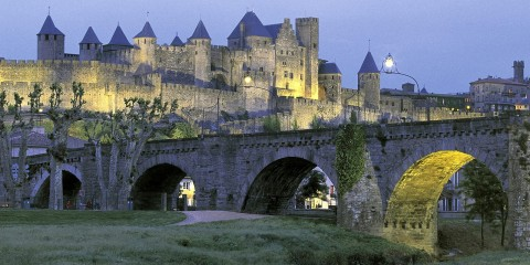 Castle-of-Carcassonne-Languedoc-Province-France